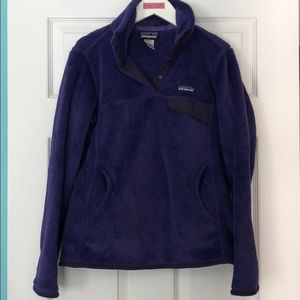 Purple Patagonia Re-Tool Snap-T Pullover